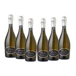 Confezione da 6 bottiglie di prosecco spumante extra dry con spedizione gratuita